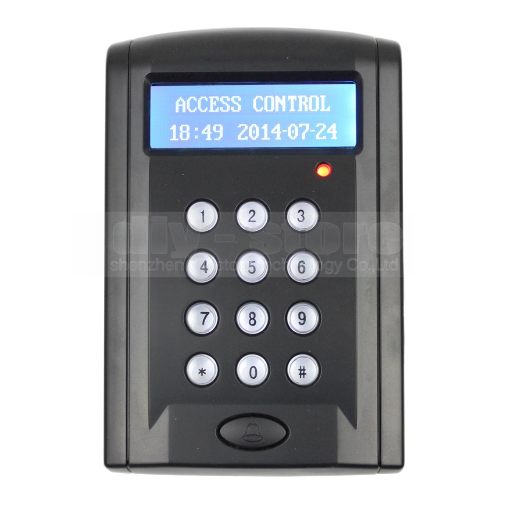 DIYSECUR LCD Economic Door Rfid Proximity Reader Access Control Keypad With Door Bell Button +10 ID Keyfobs BC200<br>
