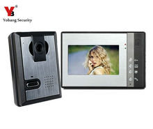 "Yobang Security Yobang Security   7"" Video Intercom Color Video Door Phone Night Vision ,multi apartments video door phone"