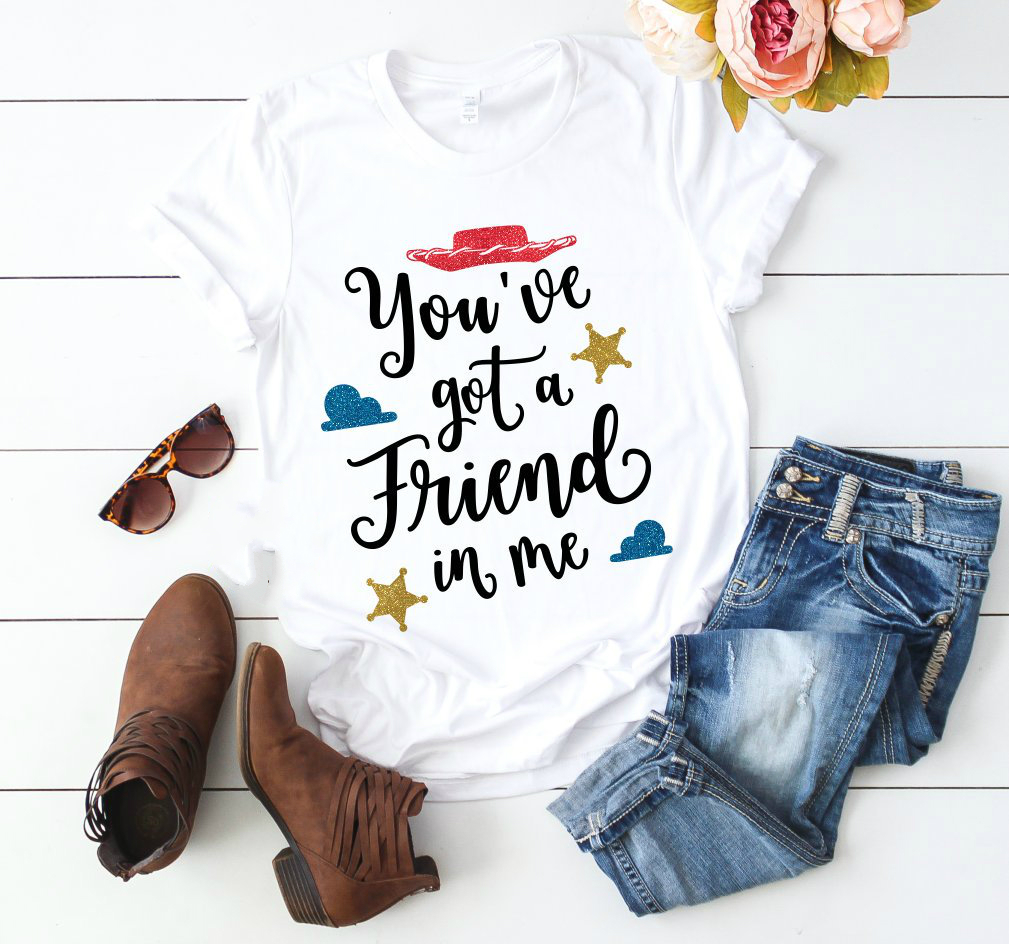 New Arrival You've Got A Friend In Me Woody T-shirt Women Toy Story Shirt Uni Buzz Lightyear Graphic Tee Shirt