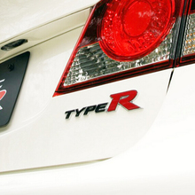 Car-Styling 3D TYPER TYPE R Racing Emblem Badge Logo Decal Sticker Metal Front Grill Grille Badge Emblem For HONDA KIA(China)