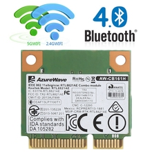 Dual Band 2.4 433M 802.11a/b/g/n/ac WiFi Bluetooth 4.0 Wireless Half Mini PCI-E Card For Realtek RTL8821AE AW-CB161H(China)