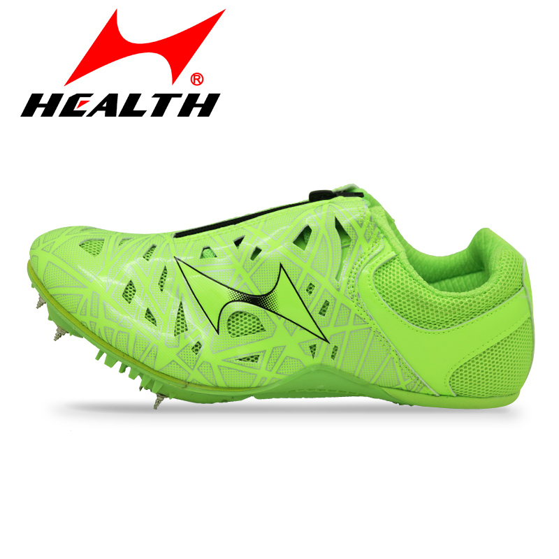 HEALTH 8851 Track &amp; Field professional sprint spikes running spikes for men woman adult athletic training sports running shoes <br>