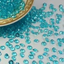 Free Shipping LANZZAY 2000pcs 4.5mm Aqua Blue Acrylic Diamond Confetti Crystals Wedding Party Vase Decoration Table Scatters