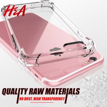 H&A Luxury Anti-knock Transparent Cases For iPhone X 6 6s 7 8 Plus 10 5 5S SE Silicone Phone Cover For iPhone 7 8 X 10 Case Capa(China)