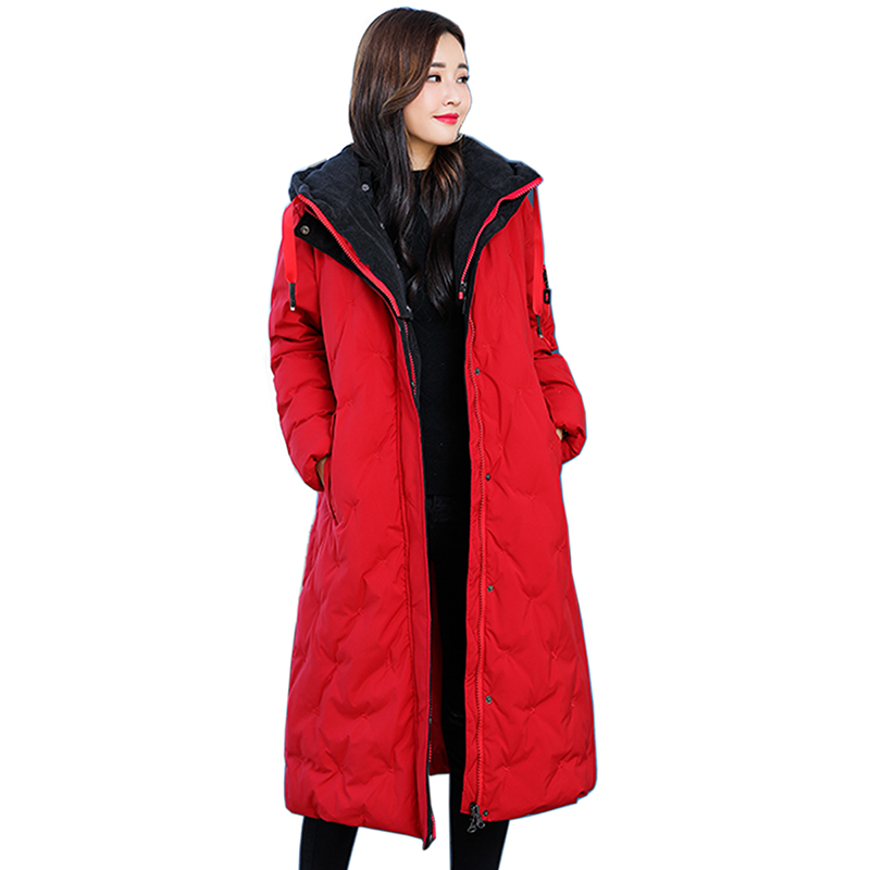2018 New women Winter Jacket women Plus Size 5XL Parkas Thick Outerwear hooded Coats long Female Slim Cotton padded basic coat