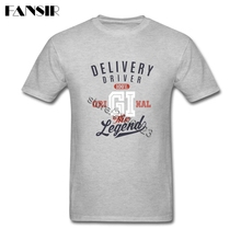 Men T-shirt New Designing Short Sleeve Cotton Custom Tee Shirts Male Delivery Driver Adult Clothes