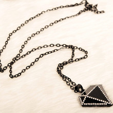 2016 New Arrival Women Pendant Necklaces Crystal Necklace Pendant Decoration Triangle Female Long Paragraph Sweater Chain
