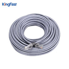 KINGFAST 30M Ethernet Cables Flat CAT5E UTP Modem Router RJ45 gold Connector Network Internet Cable Snagless Patch LAN Cable(China)