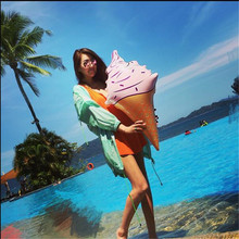 1 X Huge 35 Inch Water Sports Inflatable Ice Cream Cones Swimming Pool Play Have Fun In Summer ES1536(China)