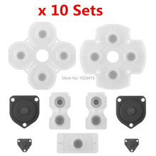 IVYQUEEN 10 Sets Soft Rubber Silicone Conductive Adhesive Button Pad Keypads For Playstation Dualshock 4 PS4 Controller