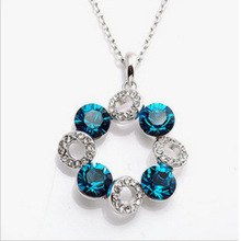 New Fashion Full Rhinestone Lucky Ball Crystal Ferris Wheel Pendant Necklaces Colorful Zircon Jewelry for Women