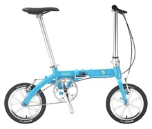 14'' Smart Super Light Folding Bicycle Aluminum Alloy Hard Frame Double V Brake City Life Single Speed Folding Bike