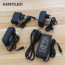 ASMTLED High Quality AC Power Adapter 100-240V 110V 220 to 12V LED Strip Power Supply Real Power 1A 2A 3A 4A LED Driver Socket