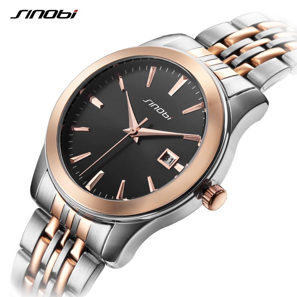 SINOBI Relogio Masculino Luxury Brand Business Analog Display Date Mens Quartz Watch Business Watch Men Wristwatch Couple Watch<br>