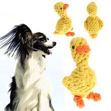 Cute Cartoon Yellow Duck Pet Dog Play Toy Cat Puppy Braided Cotton Rope Chewing Toy Knot Ball Teether for Pets