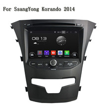 Android 5.1.1 Great Radio Effects Quad Core Car Auto Electronic Wifi GPS Navigation Car DVD Player For Ssangyong Korando 2014(China)