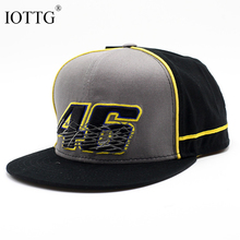 IOTTG Yellow Three-Color Motorcycle MOTO GP Rossi Vr 46 Hat Snapback Cool Man Hip Hop Hat Truck Driver Hat Racing Baseball Cap(China)