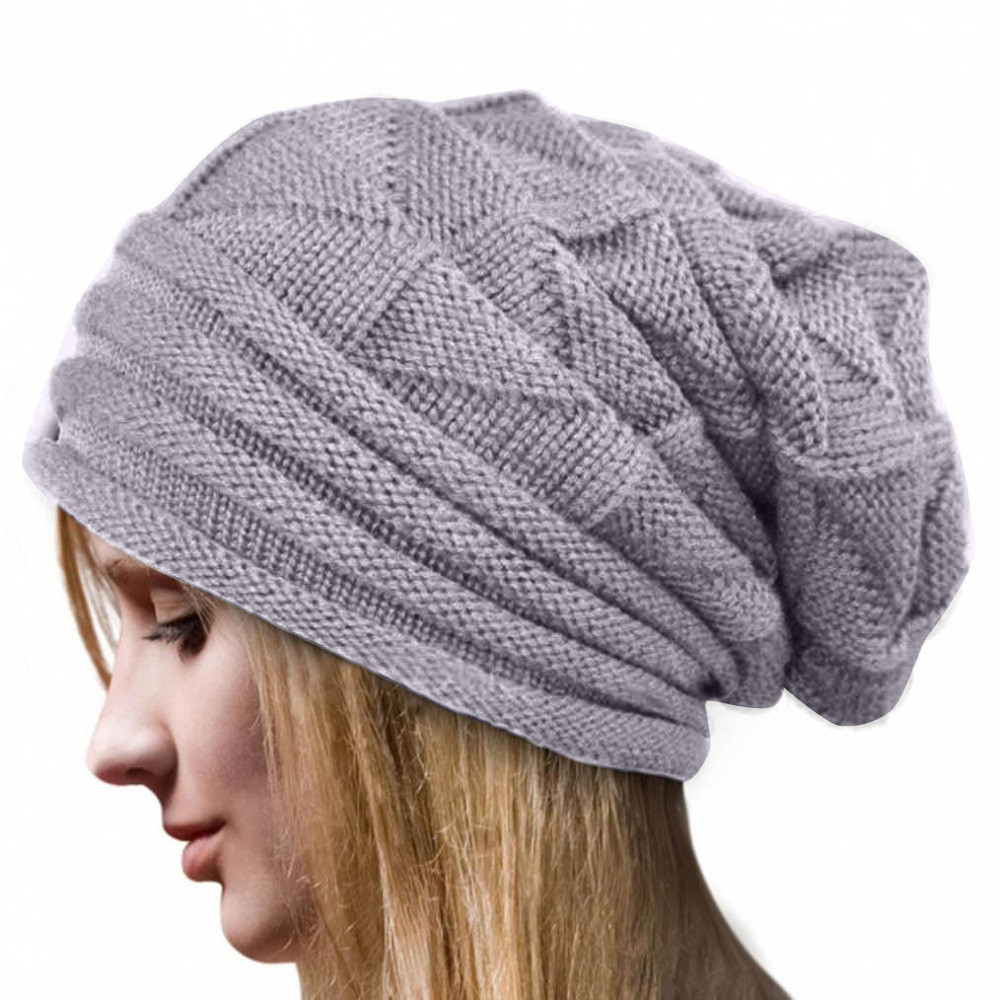 Detail Feedback Questions about Winter Hats for Women Beanies Cotton Winter  Crochet Hat Wool Knit Beanie Warm Caps Blended Hip Hop Caps Slouch Warm on  ... ad428606589