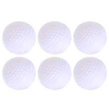 6pcs Golf Practice Balls Plastic Hollow Out Sports White Round Golf Balls Outdoor Sports Accessories