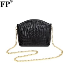 Genuine Leather Women Messenger Bags Handbag Plaid Ladies Crossbody Bag Chain Trendy Cowskin Small Shopping Daily Shoulder Bags(China)