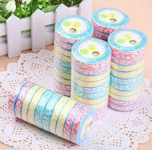 10pcs/lot Color Random Compress towels Large wood fiber nonwoven compressed towel Multicolor Portable travel towel