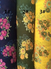 150cm width Chiffon crepe fabric big flowers pattern can see through for skirt suit-dress headband CH-7510