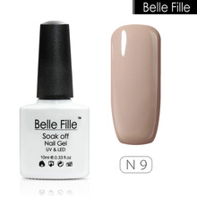 Belle Fille nail polish UV lamp for gel polish Nude Khaki Gel UV Soak Off Manicure Gels Chocolate Color fashionable gel art