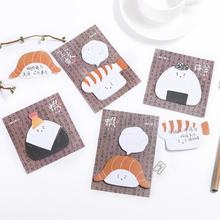 Creative Japanese Food Rice Roll Self-Adhesive Memo Pad Sticky Notes Post It Bookmark School Office Supply(China)