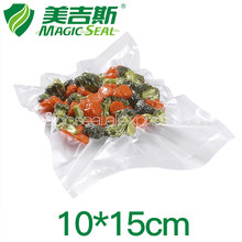 MAGIC SEAL 10x15cm Vacuum Pre-cut Bags Food Preservation  Saver System Specially-Designed Embossed Channels to Remove Air