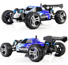 Wltoys A959 2.4G Radio Remote Control RC Car Kid Toy Model Scale 1:18 New Shockproof Rubber wheels Buggy Highspeed Off-Road(China)