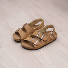 Kids sandals Classical 2017 New Summer children shoes Cork child sandals male Soft leather Boys Girls beach sandals size 22~37