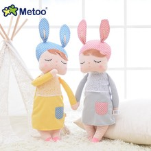 34CM Toys For Girls Metoo Plush Rabbit Bunny Soft Angela Reborn Babies Kawaii Dolls For Kids Children Christmas Birthday Gifts(China)