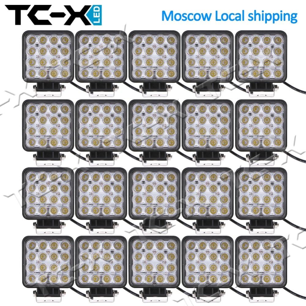 Wholesale TC-X 20 Pcs/Box 48W LED Work Lights Super Power Offroads 4wd 24V Tractor Trucks Trailer Mining Lights Good Quality<br><br>Aliexpress