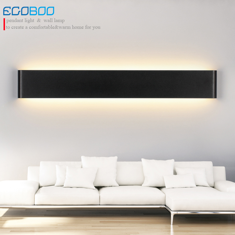 Modern 36W 111cm Super Long Aluminum Alloy Black & White LED Wall Sconces Lighting Lamps indoor as Decoration Lighting