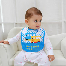 0 - 3 years old boys and girls waterproof bib cartoon baby bib children sleeveless large bib saliva towel(China)