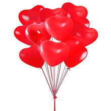 10Pcs/Lot Romantic 12 Inches 2.2g Red Love Heart Latex Helium Balloons Wedding Decoration Valentines Birthday Party Balloons(China)