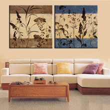 Canvas Painting Frameless Canvas Print Art Modular Home Decoration Charm Flower Poster Still Life Picture for Room Wall 2 Panel(China)