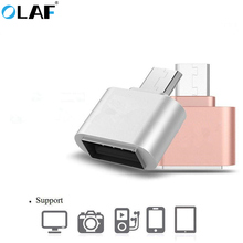 OLAF Metal Mini Micro USB OTG to USB Adapter Micro USB Male OTG to USB Female Adapter For Samsung Xiaomi LG HTC Huawei Android(China)