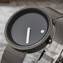 New Unique Gift Cool Minimalist Style Wristwatch Stainless Steel Mesh Creative Design Dot and Line Simple Quartz Fashion Watches(China)