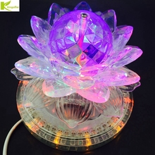 Kingoffer Lotus UFO Led Stage Light Sound Active Auto RGB Stage Light For KTV Party Wedding DJ Lighting Decoration with EU Plug