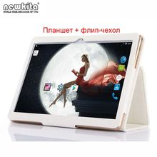 "9.6"" 3G Quad Core Tablet PC 1280*800 IPS Android 6.0 OS Dual SIM Bluetooth GPS WIFI 10.1 inch Phone Call Phablet Flip Case Free(China)"