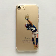 Cartoon Clear Case for iphone 7 7plus 6 6s 6plus 5 5s American Football Odell beckham jr Gronk Cam Newton printed Phone Cover(China)