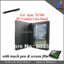 For Asus Transformer Pad TF300 Case + Screen protector + Touch pen, For Asus TF300 TF300T TF300TG Protective cover Bag