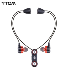 YTOM Bluetooth headset headphones Dynamic Dual unit Drivers Wireless Bluetooth 4.1 Earphone Sport Running Headset with Mic(China)