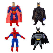 "1pcs 8"" 25cm Wholesale Best-selling The Avengers Toy Spiderman, Batman Superman High Quality Plush Toy Children's Christmas Gift(China)"