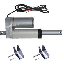 "50mm 2"" Inch Stroke DC 12V Heavy Duty Linear Actuator & Mounting Brackets 1500N 330 Pound Max Lift Motor for Car Boat Door Open"