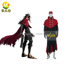 Final Fantasy VII 7 Vincent Valentine Cosplay Costume Adult Men Halloween Party Costume Fast Shipping
