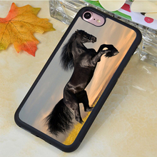 Wild Horse Mustang Nature Printed Soft Rubber Skin Mobile Phone Cases OEM For iPhone 6 6S Plus 7 7 Plus 5 5S 5C SE 4S Back Cover