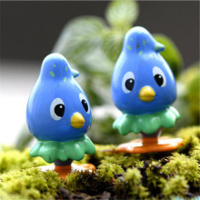 1 PCS Cartoon Blue Bird Miniature Landscape Bonsai Dollhouse Decor(China)