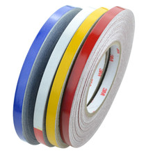 1cm*46m Reflective Tape Sheeting Car Styling Reflect Sticker Auto Motorcycle Bike Decoration Decal Whole Body Color Strip Sheet